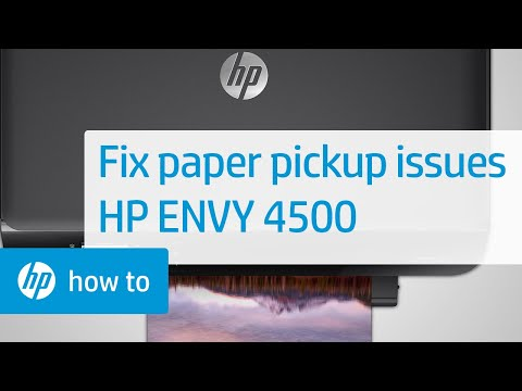 Fixing Paper Pick Up Issues - HP Envy 4500 e-All-in-One Printer