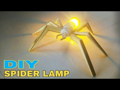 Diy Spider Lamp || Home decoration ideas