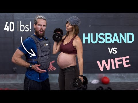 HUSBAND TRIES WORKING OUT LIKE A PREGNANT WOMAN