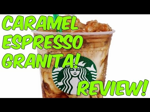 Caramel Espresso Granita from Starbucks Review!