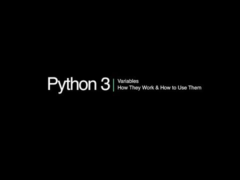Python 3 Programming Course: 6 - Variables