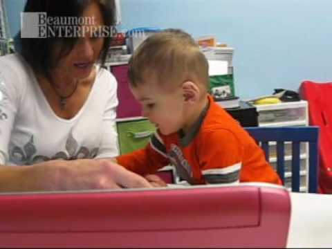Watch 2-year old Connor Lemus in speech therapy
