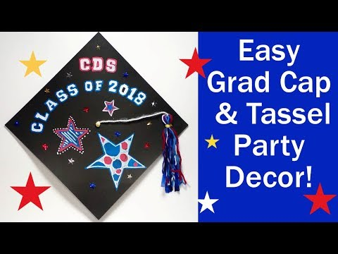Easy Graduation Decoration (Cap & Tassel Wall Decor)