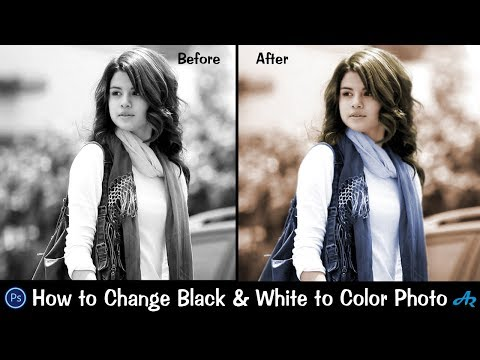 How To Make Black And White Photo Color in Photoshop 2017|Best Way to Colorize Black & White Photo
