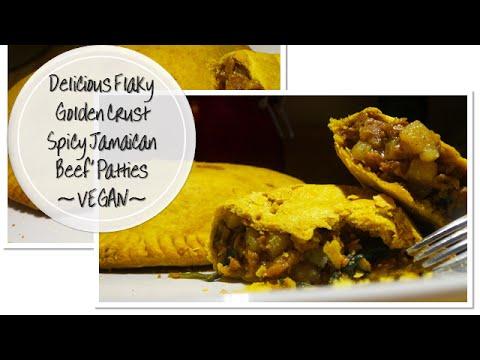 Delicious Flaky Golden Crust Spicy Jamaican Beef' Patties | Vegan Style | Korenn Rachelle