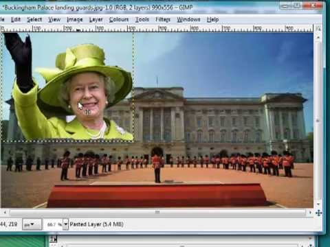 How2 cut and paste an image with GIMP