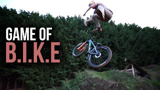 Game of BIKE on my Slopestyle MTB Jumps!!