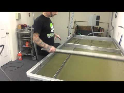 Showing how to Hydro dip carbon fiber using a paint mask filter cover