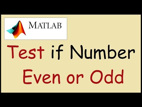 How to test if a number is even or odd in Matlab