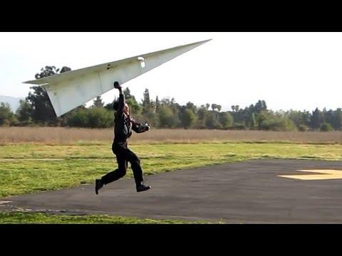World Record  RC Paper Airplane Flies Man