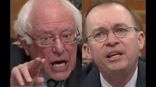 """""""PEOPLE WILL DIE!!!"""" Bernie Sanders DESTROYS Trump Lackey Mick Mulvaney on Trump"""