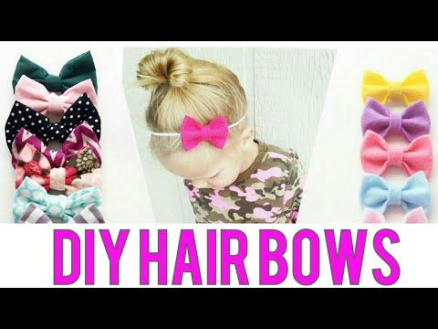 HAIRBOW TUTORIAL | Felt Hair Bow | Cotton Hair bow | PART 2