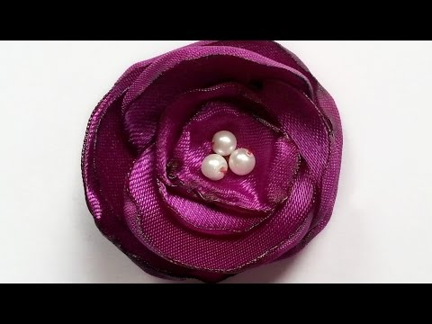 How To Create Pretty Satin Flower Brooch Pin - DIY Style Tutorial - Guidecentral