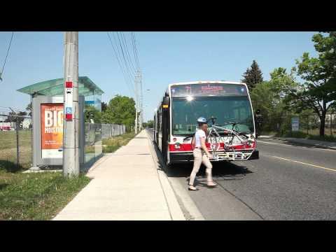 TTC buses and bike racks