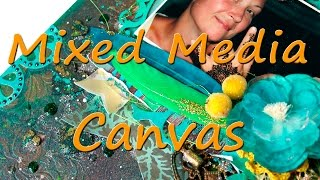 "Mixed Media Canvas ""Mehndi"". Scrapbooking"