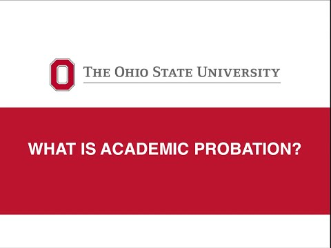 What is Academic Probation