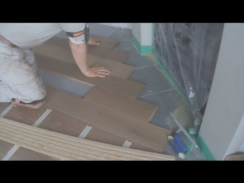 How to Install White Oak Wide Plank Hardwood Flooring Around a Fireplace Mryoucandoityourself