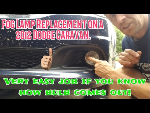 2010-2014 Dodge Caravan Easy Removal and Replacement of a Fog light!!