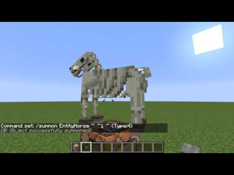 How to summon the skeleton and zombie horse in minecraft 1 10 2