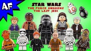 Lego Stars Wars Force Awakens & Last Jedi Minifigure Collection 2017