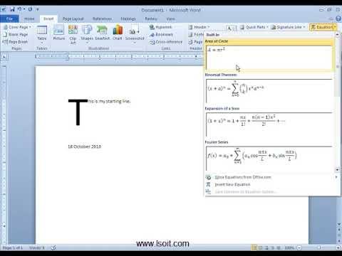 Symbols Group in Insert Tab  Ms Word Video Tutorials in Hindi -LSOIT.COM