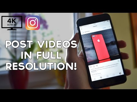 How I Post Videos on Instagram in FULL Resolution! (No Editing Required!)