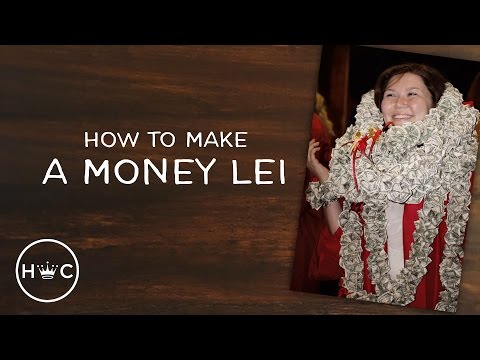 DIY Money Lei for Graduation (and Weddings)