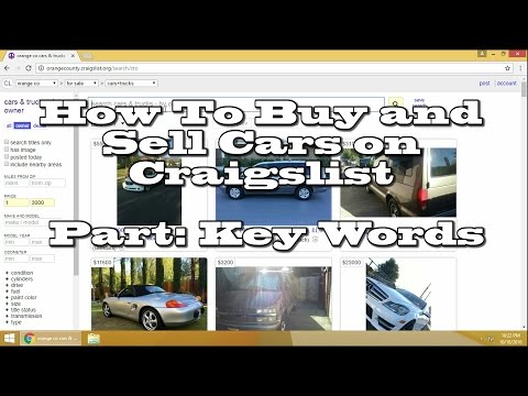 How to Buy and Sell Cars on Craigslist Key Words