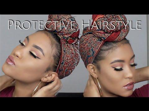 How To Tie a Turban/Headscarf Short natural hair