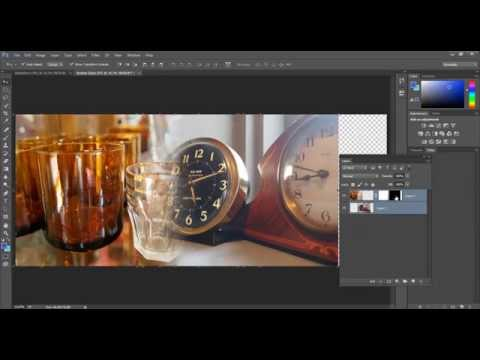 How to use the Gradient tool in Photoshop to merge images together