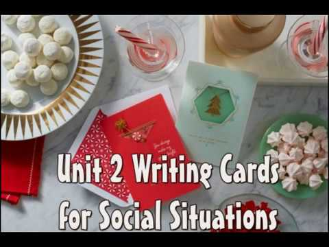 Writing Cards for Social Situations 2 part 4 การเขียนการ์ดภาษาอังกฤษ 2 ส่วนที่ 4