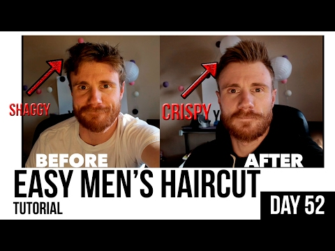 EASY MEN'S HAIRCUT & STYLE for 'Amateur' Do-It-Yourselfers * HOW TO