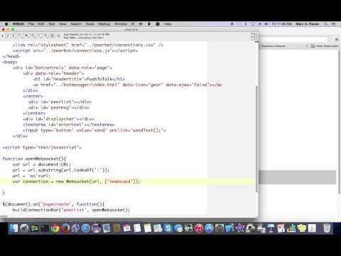 Create P2P web apps using nothing but HTML and Javascript