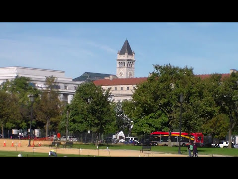 Washington DC National Mall, Washington Monument, Lincoln Memorial, US Capitol.