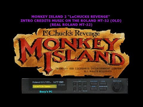 Monkey Island 2: LeChuck's Revenge Intro Credits Music Real MT-32 (Old)
