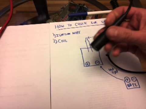 How to check for ignition spark using screwdriver&testlight