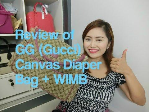 Review ~ Original GG Gucci Canvas diaper bag + W.I.M.B