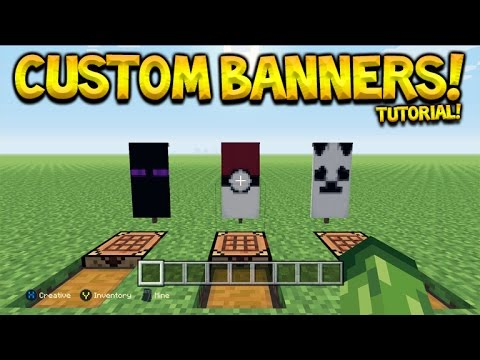 3 Awesome Custom Banner Designs Tutorial In Minecraft Console Edition