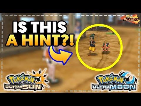 WALKING POKEMON/POKEMON FOLLOWING HINTED! - Pokémon Ultra Sun and Ultra Moon