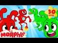 ORPHLE Vs MORPHLE Dinosaurs And Robots BRAND NEW Cartoons For Kids Morphle TV
