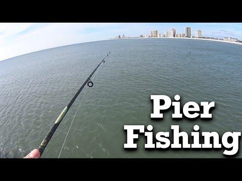 Beginner Pier Fishing - Gulf State Park Pier in Gulf Shores AL