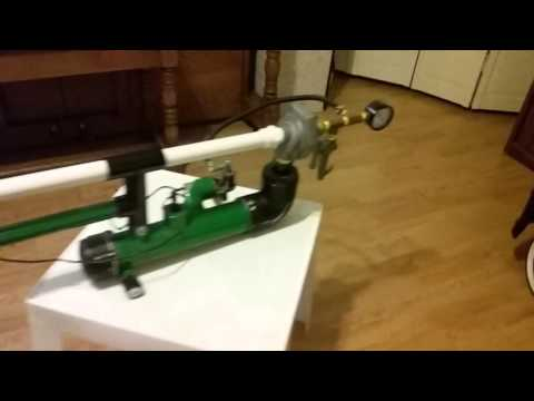 Battery powered potato gun...