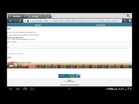 Direct Download eBooks and eaudiobooks to an Android device