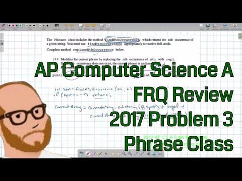 Computer Science A 2017 FRQ Problem 3