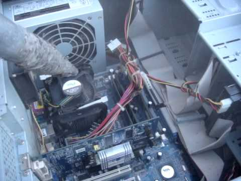 How To Clean A Filthy, Dusty, Dirty PC - The Dirtiest PC - Cleaning dust inside of computer