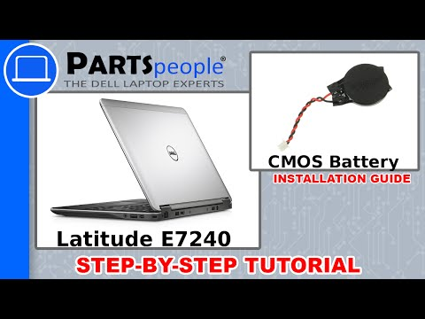 Dell Latitude E7240 CMOS Battery How-To Video Tutorial