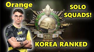 PUBG KOREA RANKED - NaVi Orange - M416 + SLR - SOLO SQUADS!