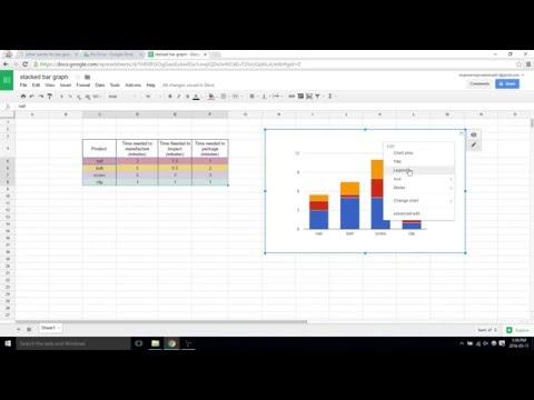 How to make a stacked bar graph - Google sheets video 19