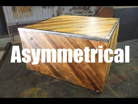 Geometric Cube Table from Reclaimed Wood