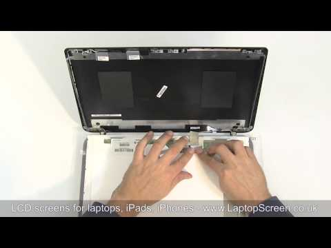 How to replace laptop screen / Fixing LCD [Toshiba Satellite C50D]
